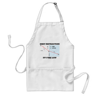 Obey Refraction It's The Law (Optics Snell's Law) Aprons