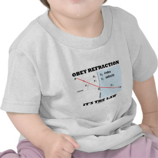 Obey Refraction It's The Law (Optics Snell's Law) T-shirts