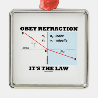 Obey Refraction It's The Law (Snell's Law Physics) Christmas Ornament