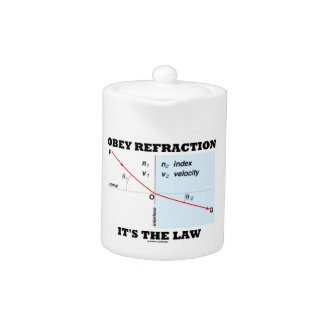 Obey Refraction It's The Law (Snell's Law Physics) Teapot