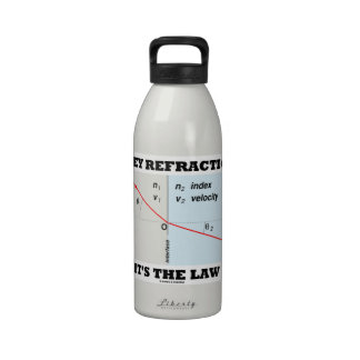 Obey Refraction It's The Law (Snell's Law Physics) Drinking Bottle