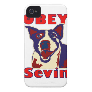 Obey Sevin - White Case-Mate iPhone 4 Case