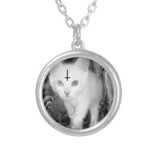 obey silver plated necklace