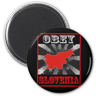 Obey Slovenia 2 Inch Round Magnet