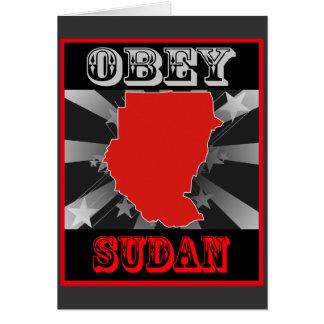 Obey Sudan Card