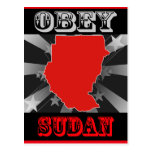 Obey Sudan Post Cards
