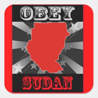 Obey Sudan Square Sticker