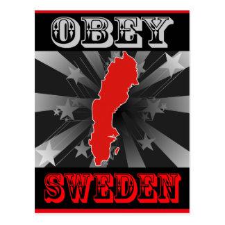 Obey Sweden Postcard