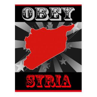Obey Syria Postcard