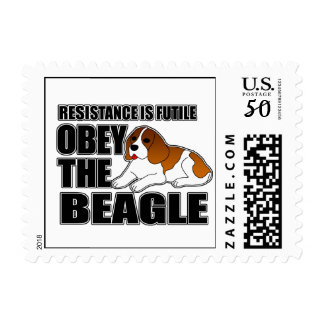 Obey The Beagle Postage