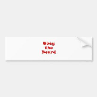 Obey the Beard Bumper Sticker