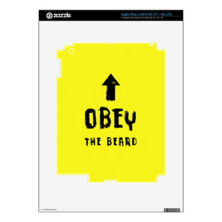 Obey the beard! iPad 3 decals