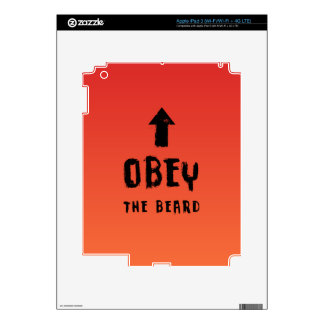 Obey the beard! iPad 3 skins