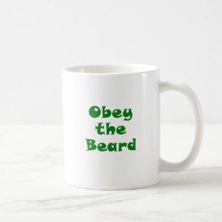 Obey the Beard Classic White Coffee Mug