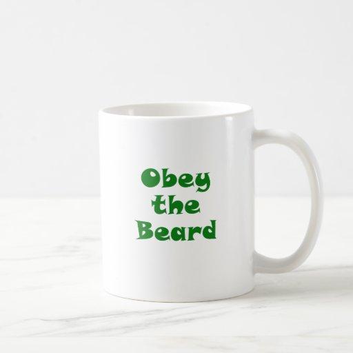 Obey the Beard Mugs
