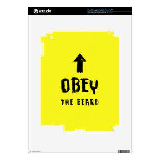 Obey the beard! skin for the iPad 2