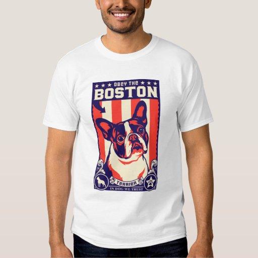 Obey the boston terrier t shirt zazzle for Boston rescue 2 t shirt