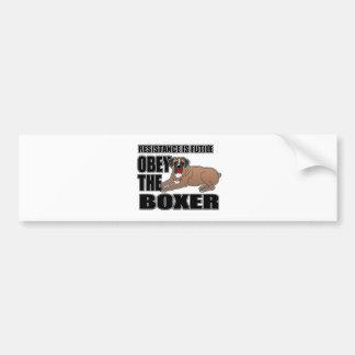 Obey The Boxer Bumper Sticker