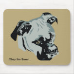 Obey the Boxer Mouse Pad
