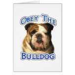 Obey the Bulldog Greeting Cards