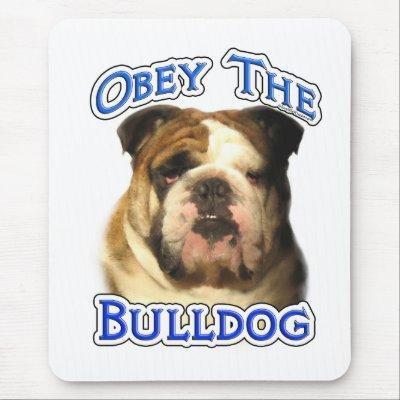 obey the bulldog mousepad