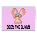 Obey the Bunny Greeting Cards