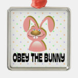 Obey The Bunny Ornament Ornaments
