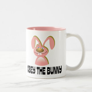 Obey the Bunny Two-Tone Coffee Mug