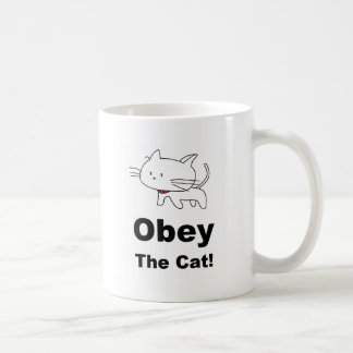 Obey the cat coffee mug