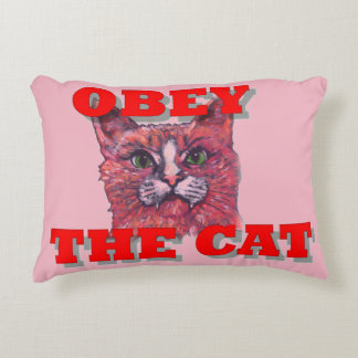 Obey the Cat Decorative Pillow