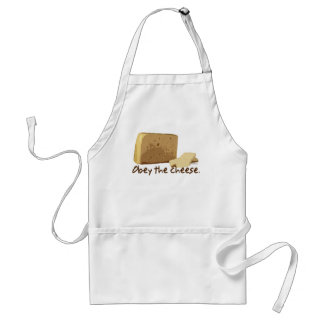 Obey the Cheese Adult Apron