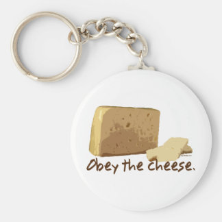 Obey the Cheese Key Chain