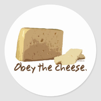Obey the Cheese Stickers