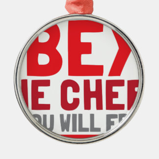 Obey the chef or you will fry metal ornament