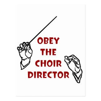 Obey the Choir Director Postcard