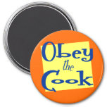 Obey the Cook Funny Kitchen Saying Magnet Refrigerator Magnets