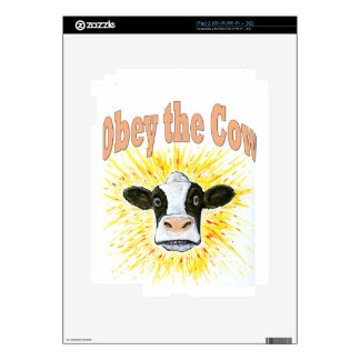 Obey the Cow Decal For The iPad 2