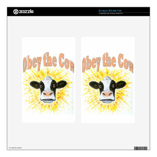 Obey the Cow Decals For Kindle Fire