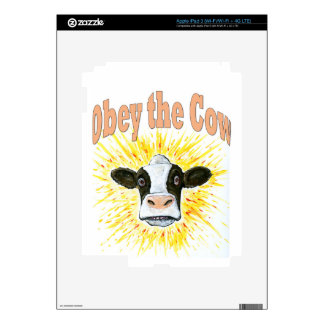 Obey the Cow iPad 3 Decals