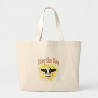 Obey the Cow Large Tote Bag