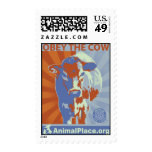 Obey The Cow Postage Stamp