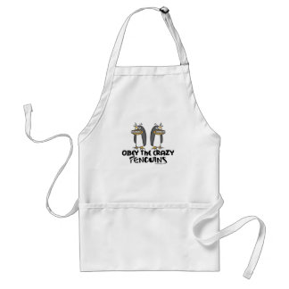 Obey The Crazy Penguins Aprons