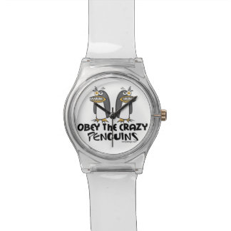 Obey the crazy Penguins Wrist Watch
