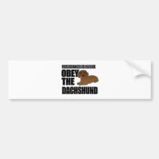 Obey The Dachshund Bumper Sticker