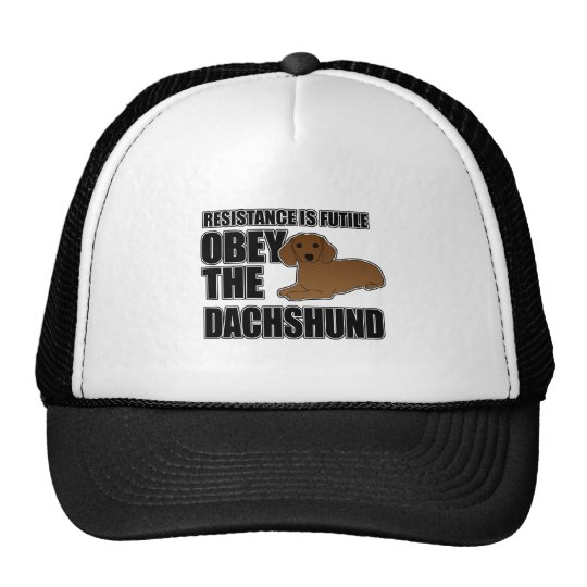 Obey The Dachshund Trucker Hat