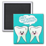Obey The Dental Hygienist 2 Inch Square Magnet