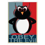 OBEY the Evil Penguin™ Greeting Card