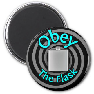 Obey the Flask Spiral (Please Drink Responsibly) Refrigerator Magnets