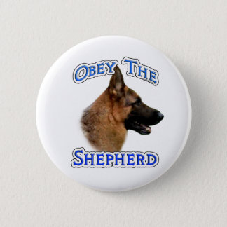Obey the German Shepherd - Button