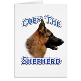 Obey the German Shepherd Card